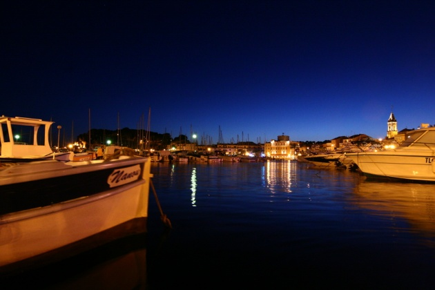 sanary's port, by night
